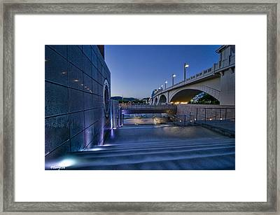 Water Stairs Framed Print