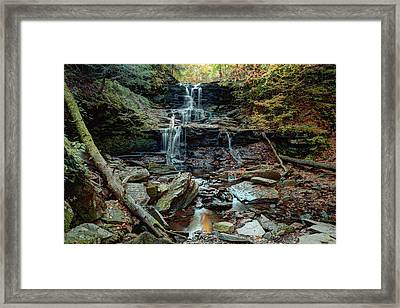 Water Starved Tuscarora Falls Framed Print by Gene Walls