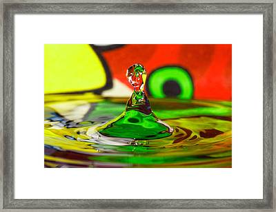 Framed Print featuring the photograph Water Stick by Peter Lakomy