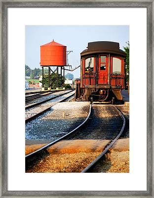Water Stop Framed Print by Mary Beth Landis