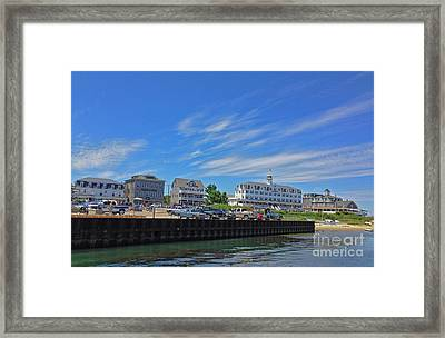 Water Street Block Island Framed Print