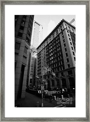 Water Street Entrance To Wall Street Junction Financial District New York City Framed Print by Joe Fox