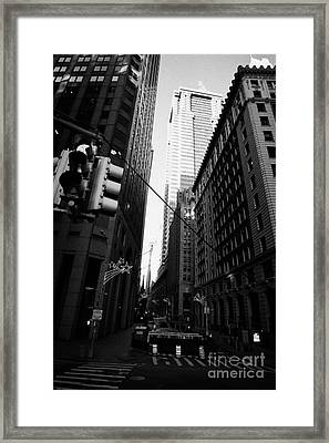 Water Street Entrance To Wall Street Junction Financial District New York City Usa Framed Print by Joe Fox