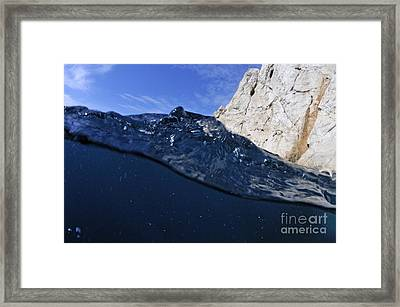 Water Surface Framed Print by Sami Sarkis