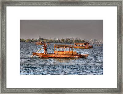Water Taxi In China Framed Print