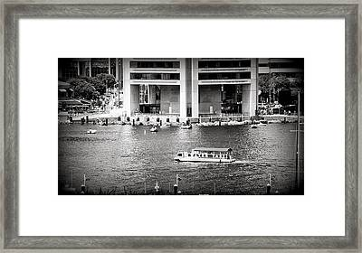 Water Taxi Framed Print