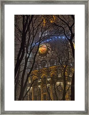 Water Tower At Night 1 Framed Print by Zoriy Fine