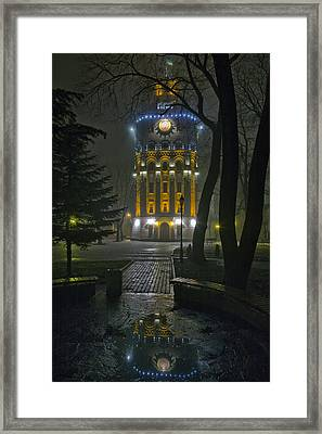 Water Tower At Night 2 Framed Print by Zoriy Fine