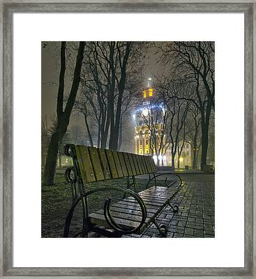 Water Tower At Night 3 Framed Print by Zoriy Fine