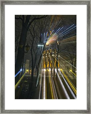 Water Tower At Night 4 Framed Print by Zoriy Fine