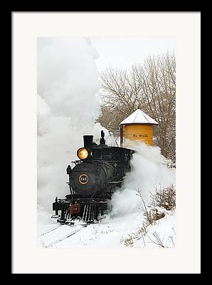Narrow Gauge Steam Train Framed Prints