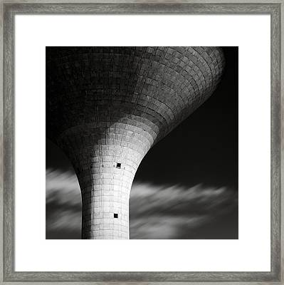 Water Tower Framed Print by Dave Bowman