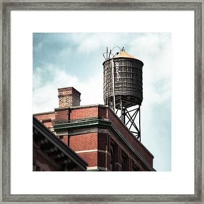 Framed Print featuring the photograph Water Tower In New York City - New York Water Tower 13 by Gary Heller