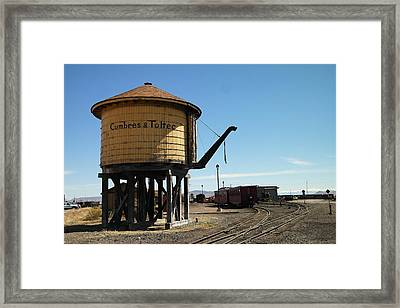 Water Tower Framed Print by Jeff Swan