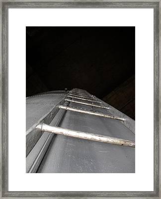 Water Tower Ladder Framed Print