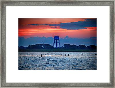 Framed Print featuring the digital art Water Tower by Michael Thomas
