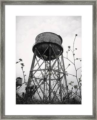 Water Tower Framed Print by Michael Grubb