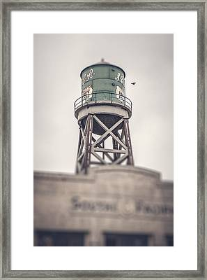 Water Tower Framed Print by Yo Pedro