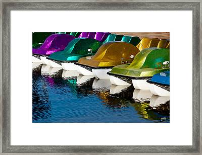 Water Toys Framed Print
