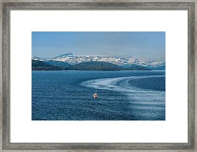 Water Trail Framed Print