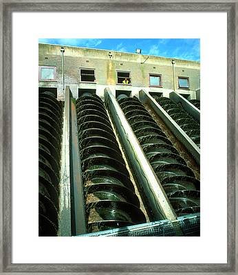 Water Treatment Plant Framed Print by Martin Bond/science Photo Library