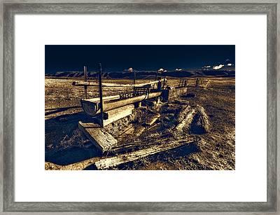 Water Trough Framed Print by Wayne Sherriff
