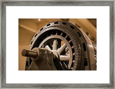 Water Turbine And Generator Framed Print by Jim West