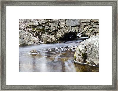 Water Under The Bridge Framed Print by Andrew Pacheco