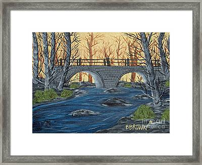 Framed Print featuring the painting Water Under The Bridge by Brenda Brown