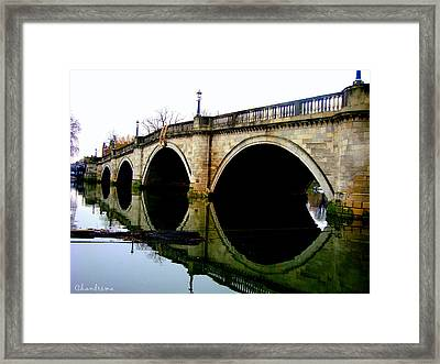 Water Under The Bridge Framed Print by Chandrima Dhar