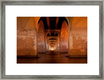 Water Under The Bridge - Tulsa Oklahoma Bridge Framed Print by Gregory Ballos