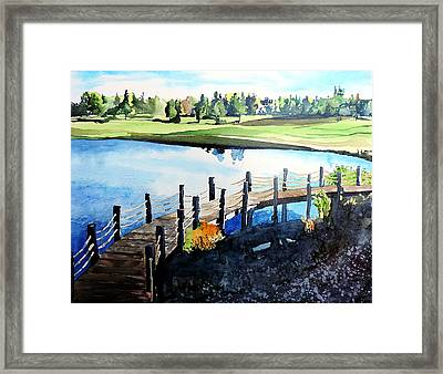 Framed Print featuring the painting Water Valley Golf by Tom Riggs
