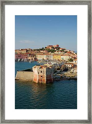 Water View Of Torre Della Linguell Framed Print