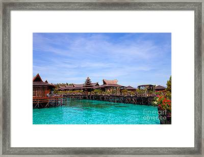 Water Village Borneo Malaysia Framed Print