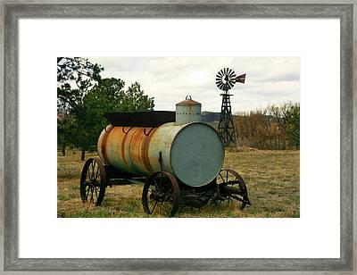 Water Wagon Framed Print by Mike Flynn