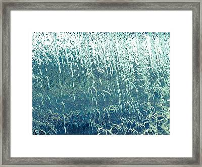 Water Wall Blue Framed Print by Richard Brown