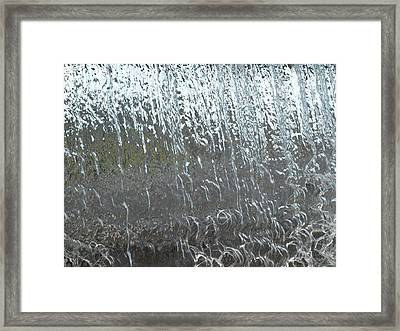 Water Wall Framed Print by Richard Brown