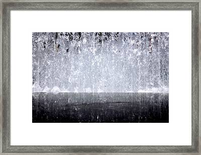 Water Wall Framed Print