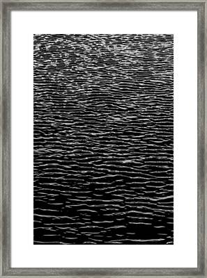 Water Wave Texture Framed Print