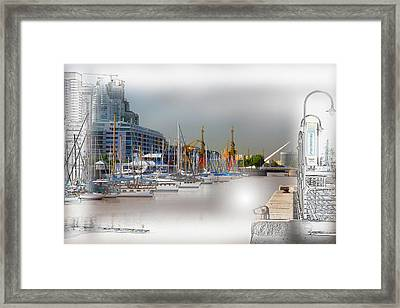 Water Way Buenos Aires Framed Print