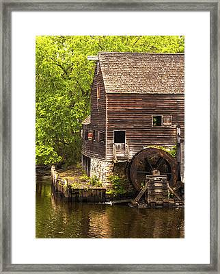Framed Print featuring the photograph Water Wheel At Philipsburg Manor Mill House by Jerry Cowart
