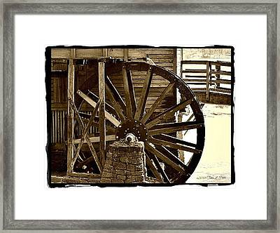 Framed Print featuring the photograph Water Wheel At The Grist Mill by Tara Potts