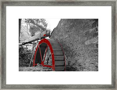 Framed Print featuring the photograph Water Wheel.  by Christopher Rowlands
