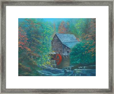 Water Wheel House  Framed Print by Dawn Nickel