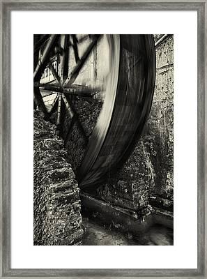Water Wheel Framed Print by Mike Lang