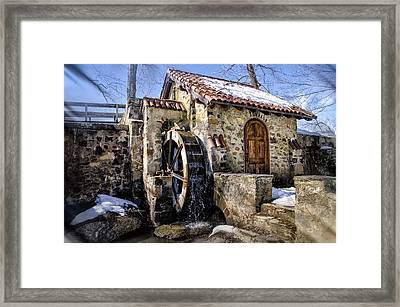Water Wheel Mill At Eastern College Framed Print