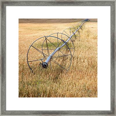 Water Wheel Framed Print by Peter Tellone