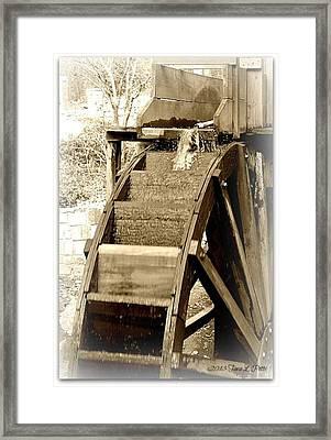 Water Wheel Framed Print by Tara Potts