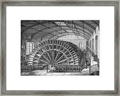 Water Wheels At Marly Framed Print by Science Photo Library