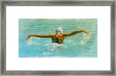 Water Wings Framed Print
